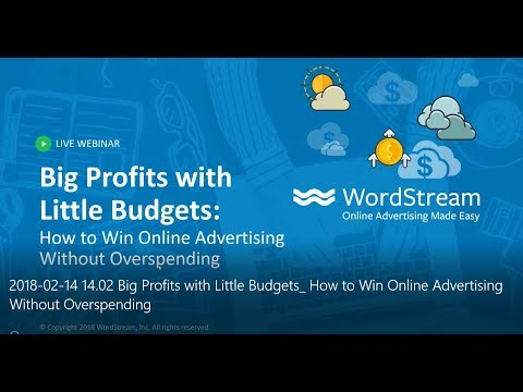 Big Profits with Little Budgets: How to Win Online Advertising Without Overspending