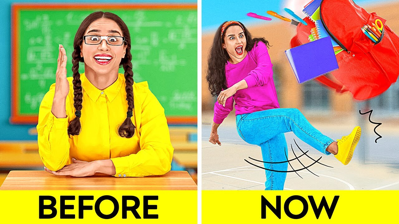 Download BACK TO SCHOOL || Parenting Hacks, DIY And Funny Situations by 123 GO!