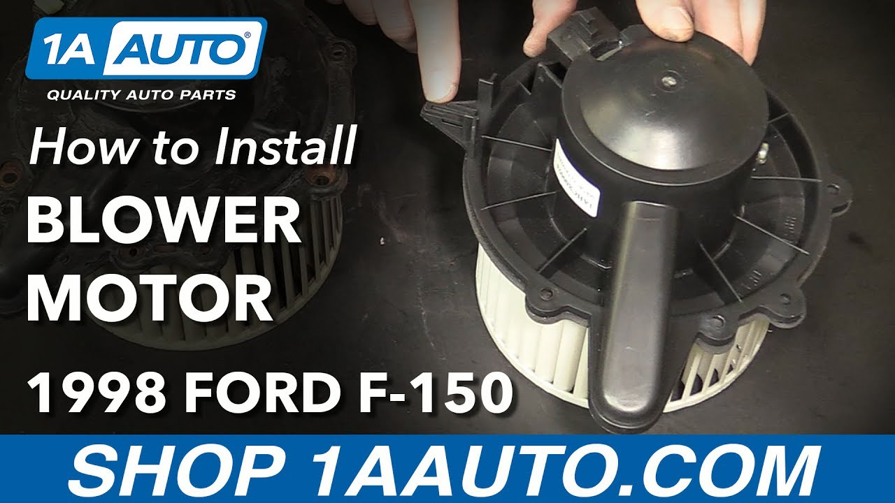 hight resolution of how to replace heater blower motor 97 03 ford f 150