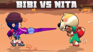 🔥 BIBI vs NITA 🔥 | 1vs1 | 20 Tests | Brawl Stars