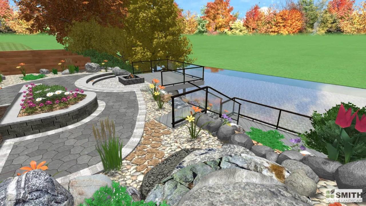 lakefront landscape design