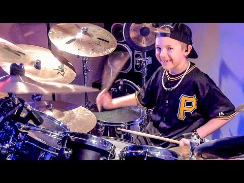 FIGHT FOR YOUR RIGHT 8 year old Drummer Drum   Avery Drummer Molek