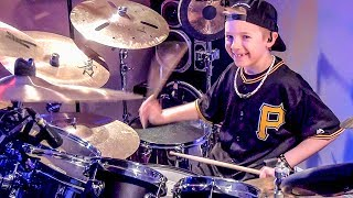 """Fight for Your Right"" Avery Molek, 8 year old Drummer"