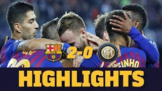 BARÇA 2-0 INTER MILAN | Match highlights