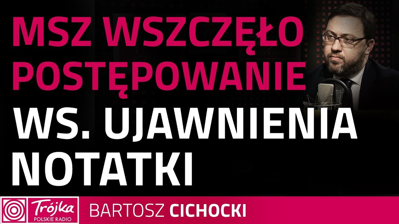 Bartosz Cichocki: nie można mówić o kryzysie, zawieszaniu relacji z USA