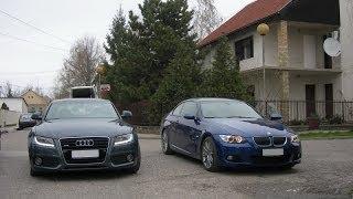 BMW 330 E92 vs Audi A5 3.2 - Тест-Драйв