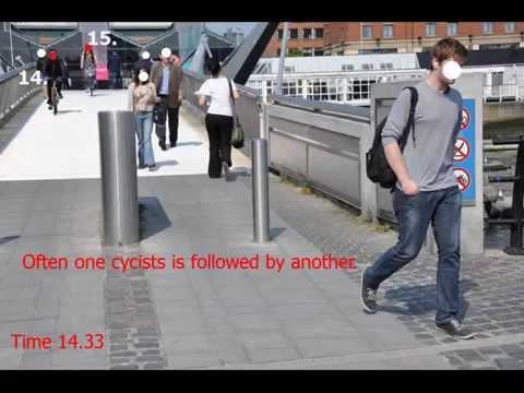 Dublin Cyclists Sean O'Casey bridge
