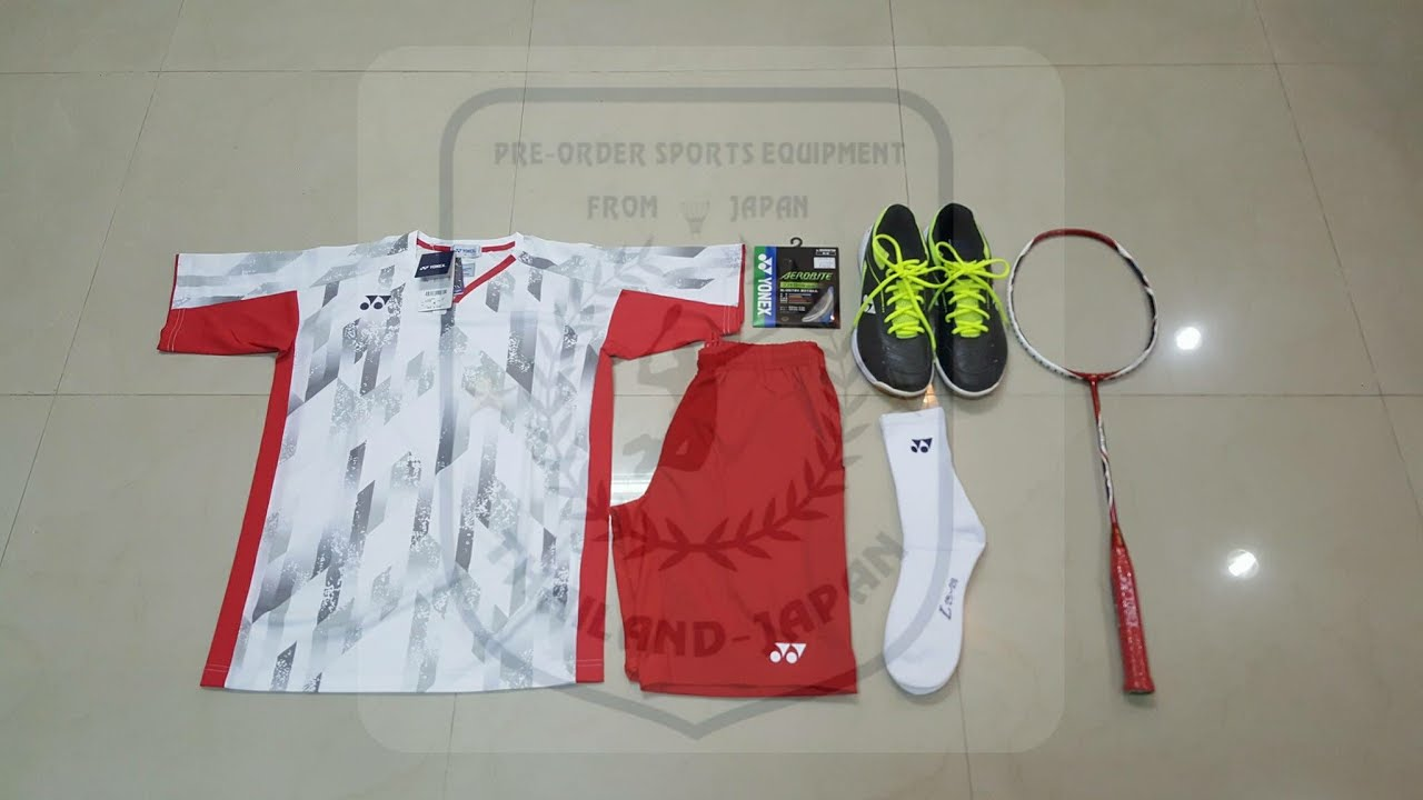 sports shoes 8ec2a be6db Yonex Badminton Shirt Japan National Team / Men / White