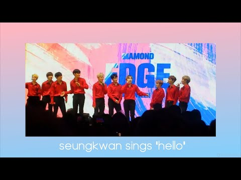 "SEVENTEEN Diamond Edge TORONTO 2017 | Seungkwan sings ""Hello"""