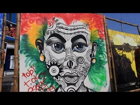 Art de rue: des artistes ghanéens exposent à Accra