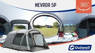 Outwell Nevada 5P Tent - 360 video (2019)