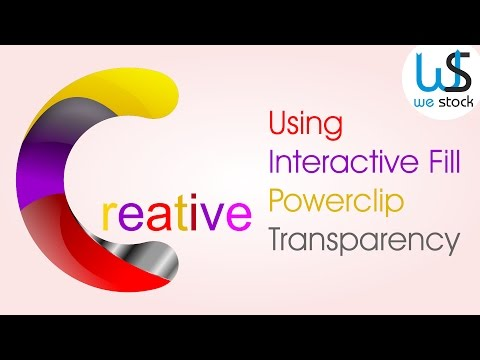 Coreldraw tutorial - The Creative C Logo Design With Interactive Fill, Transparency & Powerclip