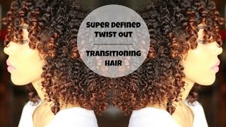 super defined twist out for transitioning hair   devacurl supercream