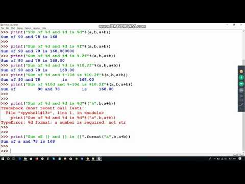 Python 3 Tutorial 021- Format print output using %, {}, format, padding and  aligning strings
