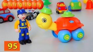Машинки мультфильм - Город машинок 95 серия: Черепашка-конструктор. Развивающие мультики mirglory