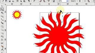 145.How to draw SUN. (corelDRAW)