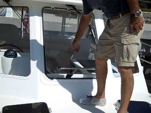 2005 Legacy 34 Express Walk Through Tour and Engine Review.mp4