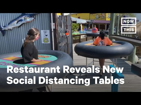 Restaurant Reopens Uses 'Social Distancing Tables' | NowThis
