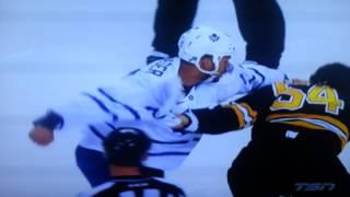 Mark Frazer vs  Adam Mcquaid nhl hockey fight