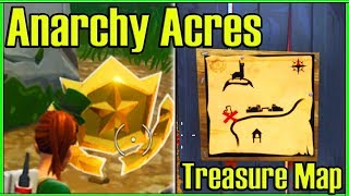 HOW to Complete the Anarchy Acres Treasure Map Challenge! (Fortnite Battle Royale)