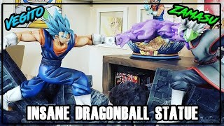 THE BEST DRAGON BALL STATUE YOU EVER SEEN | VEGITO BLUE CLASHING WITH ZAMASU! XCEED RESIN STATUE