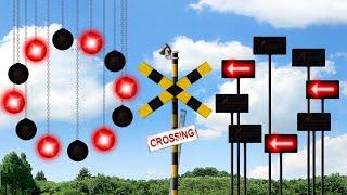 【踏切】カンカンを増やしすぎた踏切 / Train & Railroad Crossing - Many Light Mechanical Crossing -