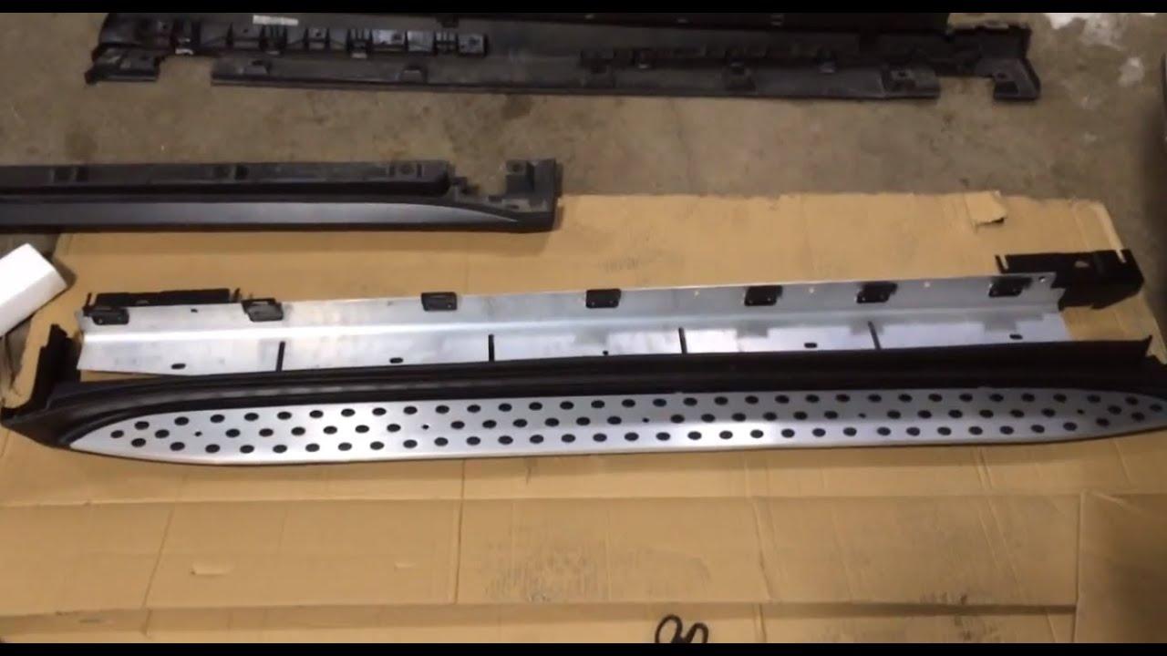 Mercedes benz w164 ml running board installation for Mercedes benz ml350 running boards
