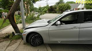 When Recording Goes Wrong BMW slammed on to a light pole and I Caught it