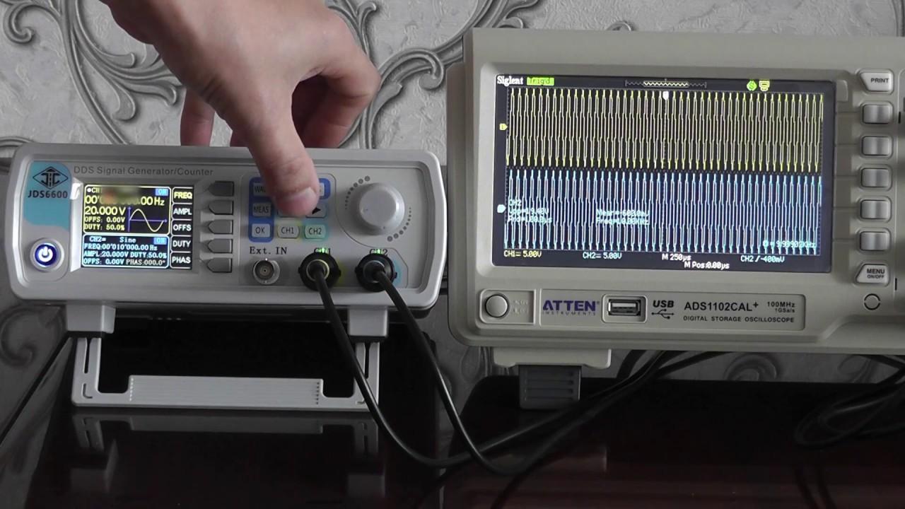 Генератор сигналов JDS6600