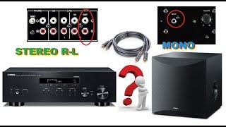 Cách nối amply stereo với loa trầm subwoofer mono