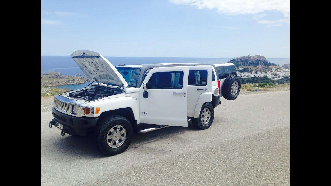 Hummer H3 Luxury Rent a Car Rhodes Rodos