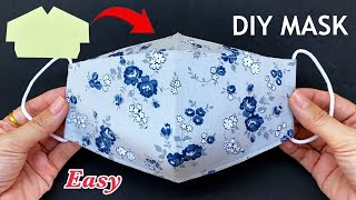 New Style Very Easy Diy Face Mask Making Ideas Sewing Tutorial 5 Minutes Fast Easy to Make Mask