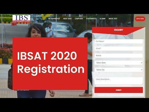 IBSAT 2020-2021 Registration Started - Know How To Apply, Fill Form   MBA  