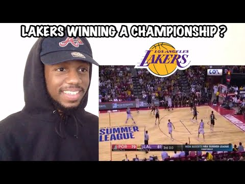 LAKERS ARE BACK!!! Lakers vs Trail Blazers NBA Summer League Championship GAME REACTION!!!