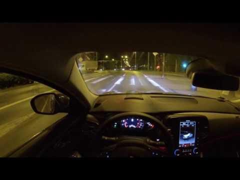 Renault Talisman Initiale Paris 200 HP - night POV drive SPORT MODE