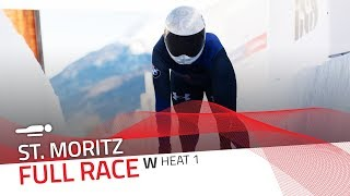 St. Moritz | BMW IBSF World Cup 2018/2019 - Women's Skeleton Heat 1 | IBSF Official