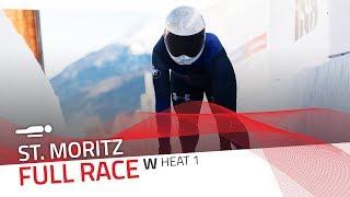 St. Moritz | BMW IBSF World Cup 2018/2019 - Women's Skeleton Heat 1 | IBSF Official