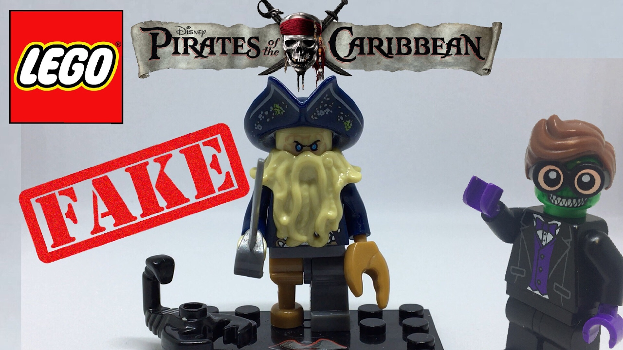 Fake Lego Davy Jones Minifigure Pirates Of The Caribbean Youtube