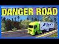 THE MOST DANGEROUS ROAD!! (Euro Truck Simulator 2)