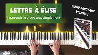 Lettre à Élise - J'apprends le piano tout simplement - Volume 1