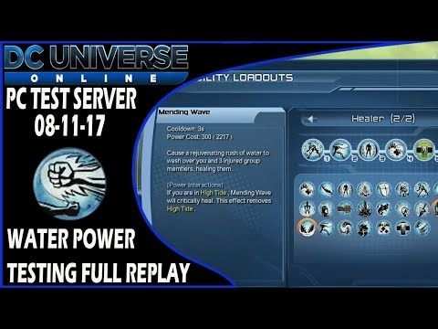 DCUO PC Test Server - Water Power Testing (08-11-17)