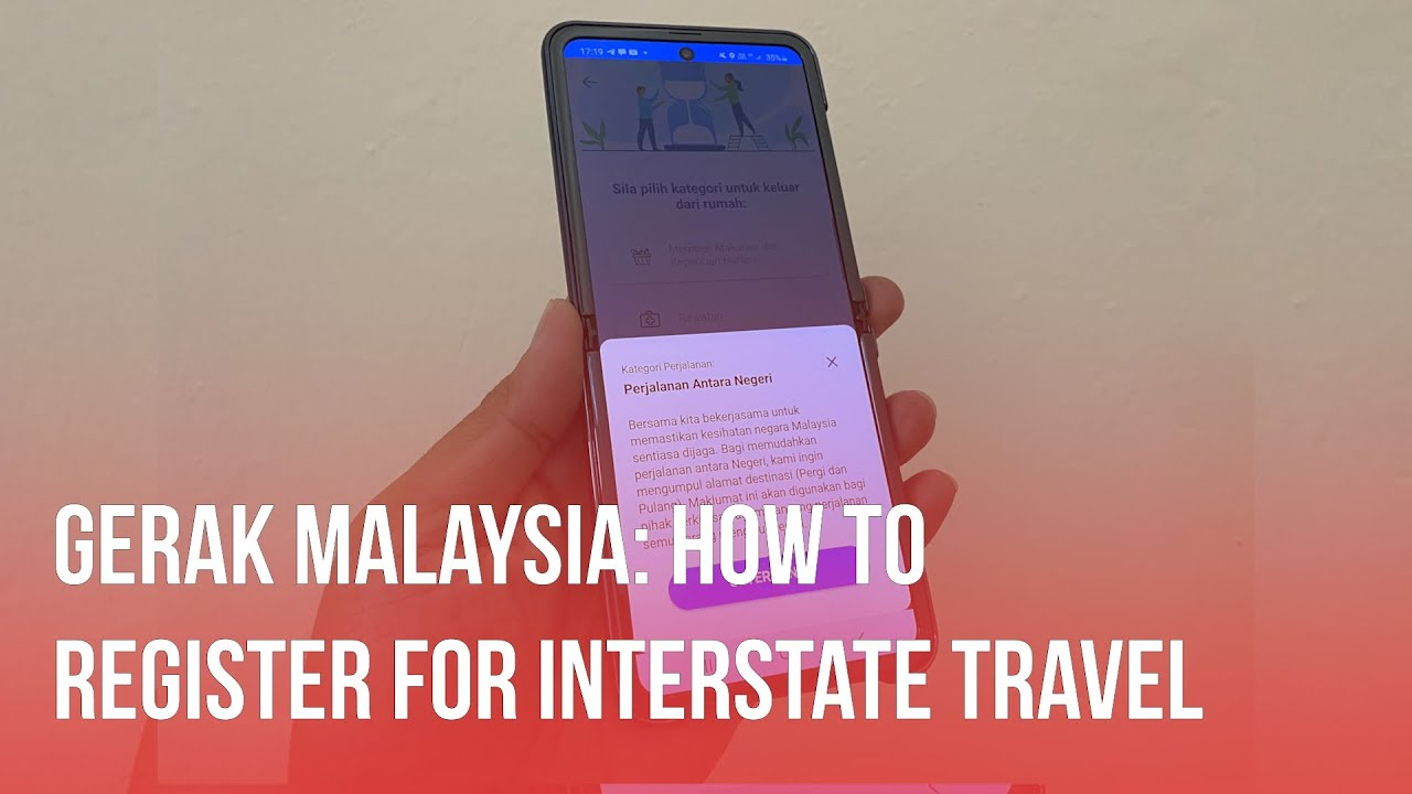 Gerak Malaysia V2 How To Register For Interstate Travel Youtube