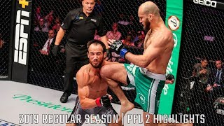 Movlid Khaybulaev KOs Damon Jackson with a Flying Knee in :10 Seconds | PFL 2 2019 Fight Highlights