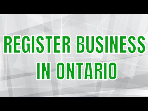 How To Register A Business In Ontario | Register Business Name Ontario