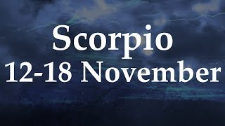 Scorpio Weekly Tarot 12-18 November 2018  - Aquarian Insight