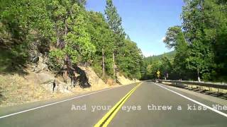 Behind wheel of my Honda CRV from LA to Tahoe
