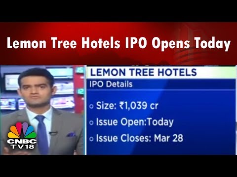 Lemon Tree Hotels IPO Opens Today | Halftime Report | CNBC TV18