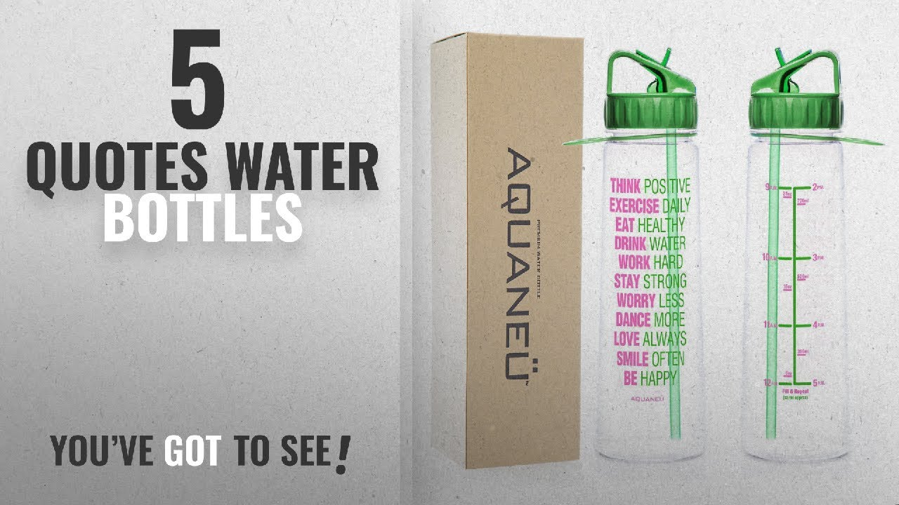 Best Quotes Water Bottles [2018]: 30oz Inspirational