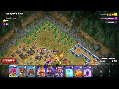 Clash Of Clans Easy 3 Star Dragons Lair - Defeated!