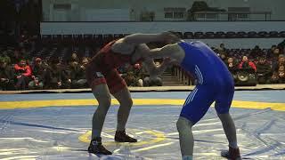 Спорт. Вольная борьба. Чемпионат Кыргызстана среди юниоров-2020. День 1 Мат B3